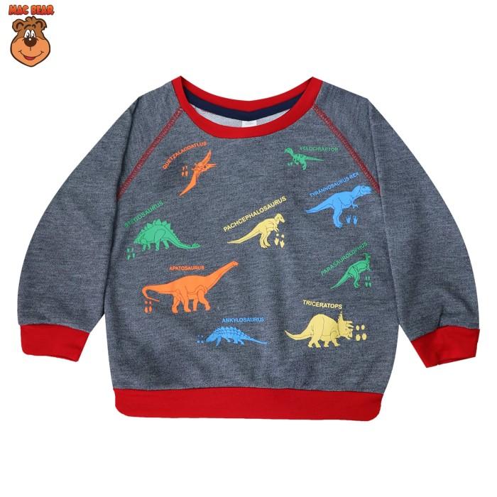 Jual Bg1-1802 Macbear Kids Sweater Anak Kind Of Dino Grey – Abu-Abu Muda Size 4 Harga Promo Terbaru