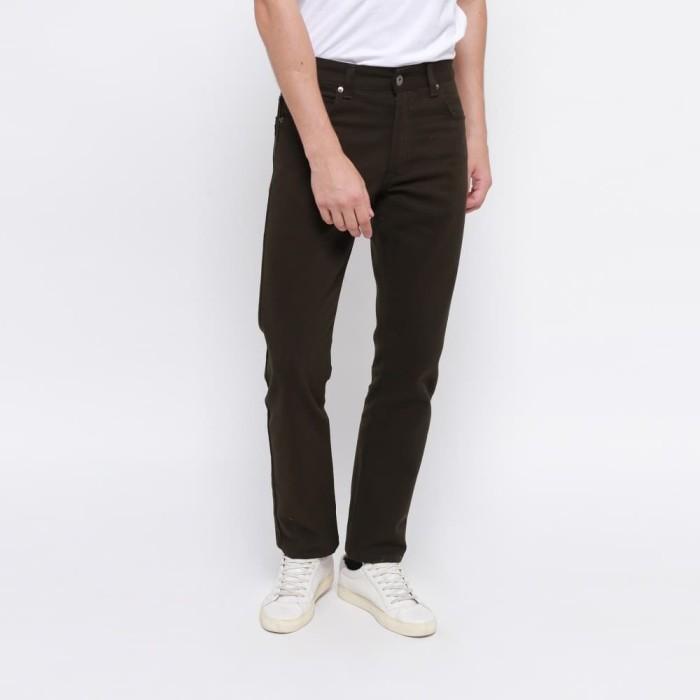 harga Edwin celana jeans milan-018 regular fit pria panjang army green - hijau tua 36 Tokopedia.com