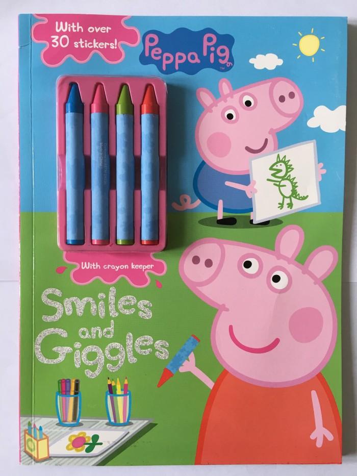 Jual Peppa Pig Play Games Math Coloring Buku Main Mewarnai Import