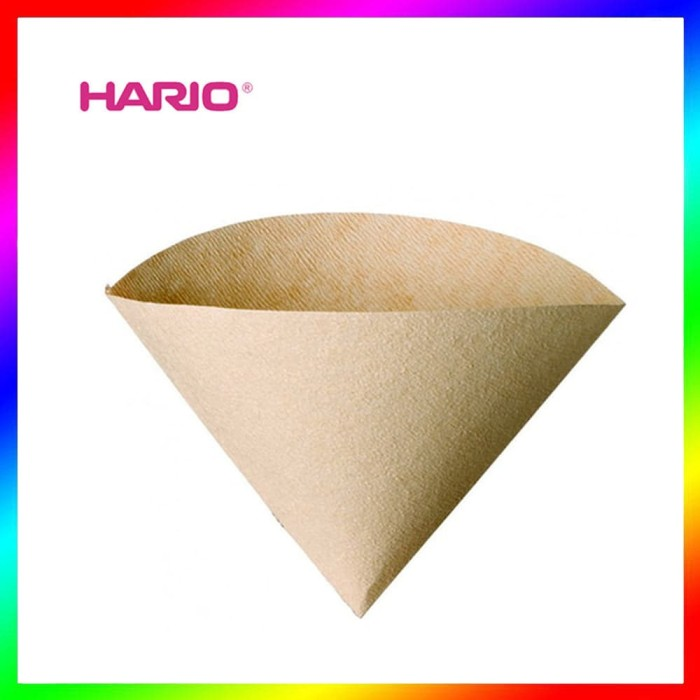 HARIO V60 VCF-02-100M Pour Over Coffee Paper Filter Brown Kertas Kopi