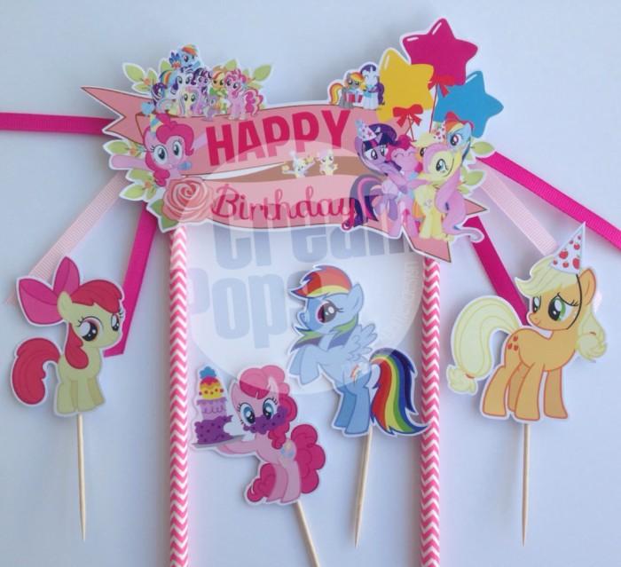 Jual Mlp My Little Pony Cake Topper Hiasan Dekorasi Kue Ultah Jakarta Pusat Creampops Tokopedia