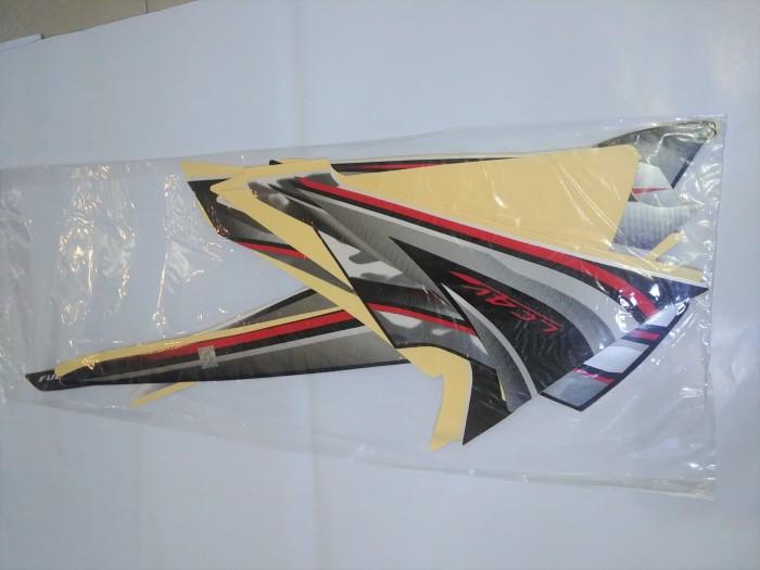 Stiker Bodi & Lis Body & Striping Vixion 2010 Hitam Silver
