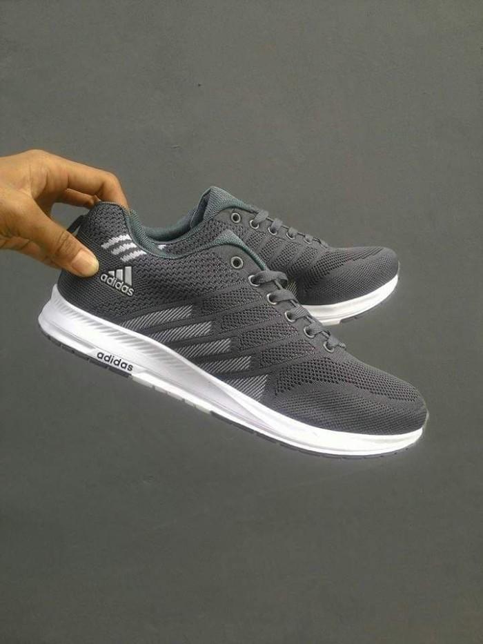 Jual Sepatu Running Adidas Original Murah Pria Wanita Abu Abu Tua