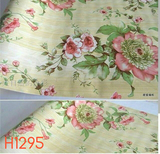 Foto Produk Big flower pink 45 cm x 10 mtr    Wallpaper dinding dari dedengkot wallpaper