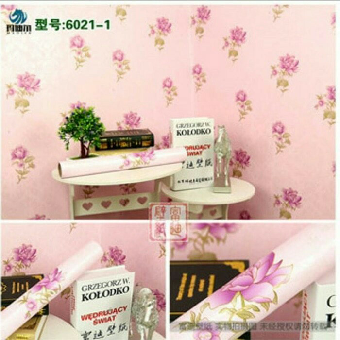 Jual Wallpaper Dinding Sticker Bunga Cantik Kota Malang Spectrawallpaper Tokopedia