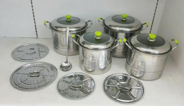 Panci kukus steamer set / stock pot set calypso
