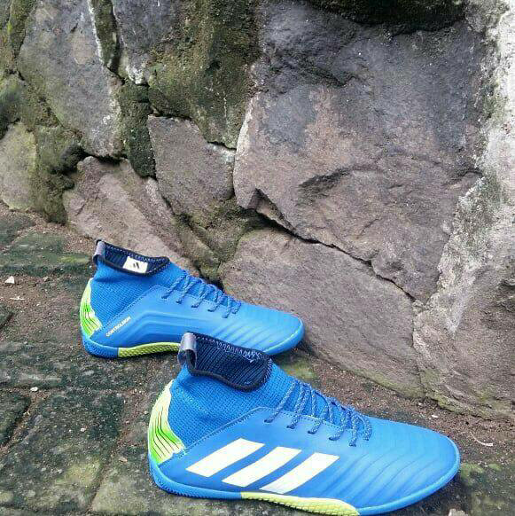 d8b2921c852 ... cheap sepatu futsal adidas predator 18 biru list putih grade ori 2cd39  49457