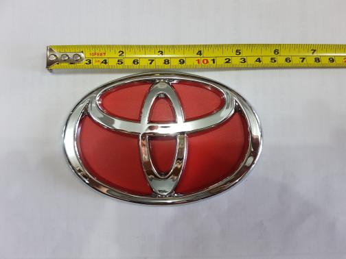 harga Emblem logo toyota latar merah lebar 14cm. Tokopedia.com