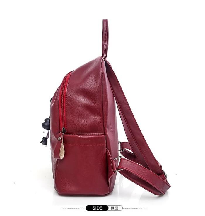 Tas Ransel wanita Fendi hitam - Backpack tas punggung cewek import TP8 -  Maroon 83039009b4