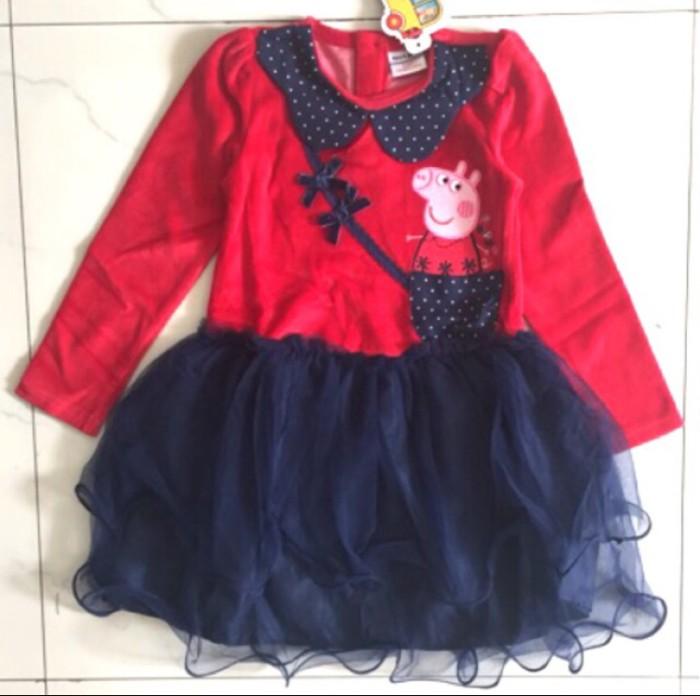 harga Dress peppa pig pesta tutu anak baju bludru korea kartun import Tokopedia.com