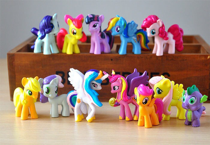 harga Mainan figure mini my little pony set isi 12 hiasan kue Tokopedia.com