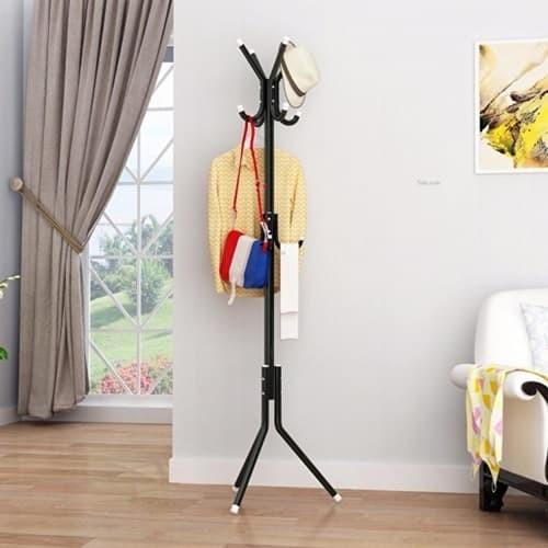 Jual Grosir Station Gantungan Baju Standing Hanger Multifunction Source MULTIFUCTION STAND HANGER Hitam .