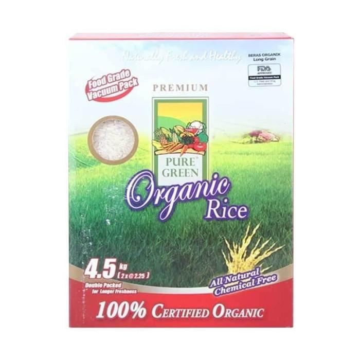 harga Puregreen beras organic long grains 4.5kg Tokopedia.com