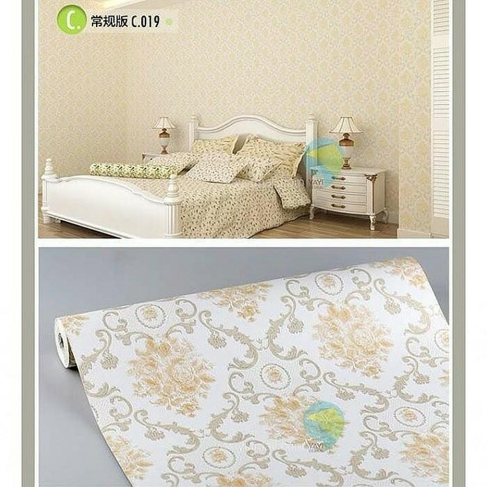 Foto Produk classic gold flower 45cm x 10mtr || Wallpaper dinding dari dedengkot wallpaper