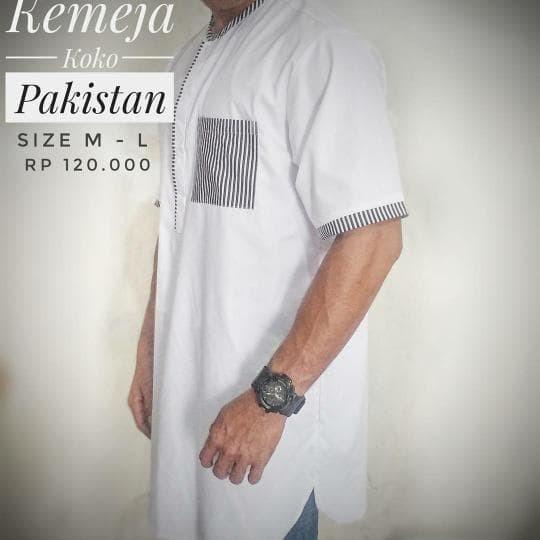 LARISSS Kemeja Koko Pakistan Alif Premium - Baju koko Modern murah