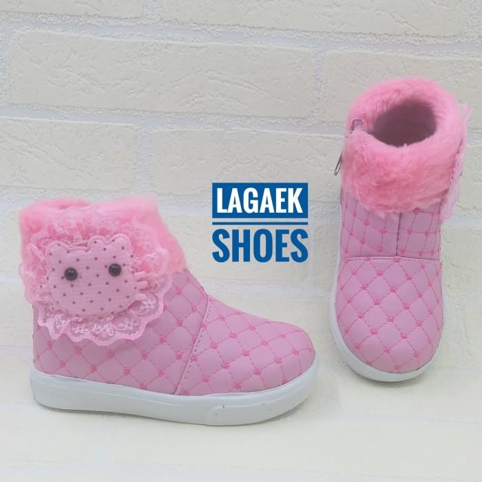 Jual Sepatu Anak Perempuan 1 5 Tahun Motif Boneka Bulu Pesta Lucu