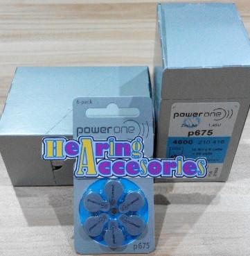 PowerOne P675-Baterai Alat Bantu Dengar (Free-Mercury) Hearing Battery