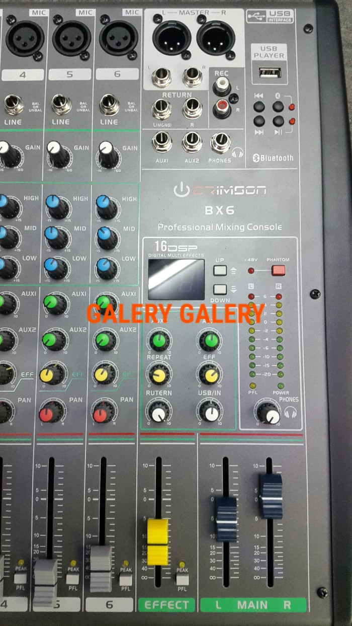 Jual Audio Mixer 6 Channel Crimson Bx6 16dsp Effect Galery