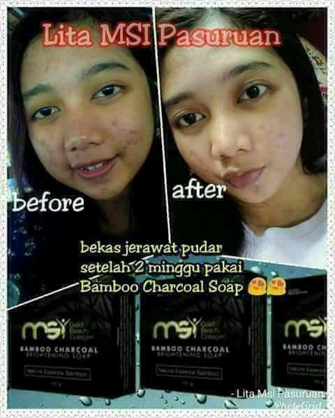 Sabun Arang Bamboo Ulive charcoal MSI