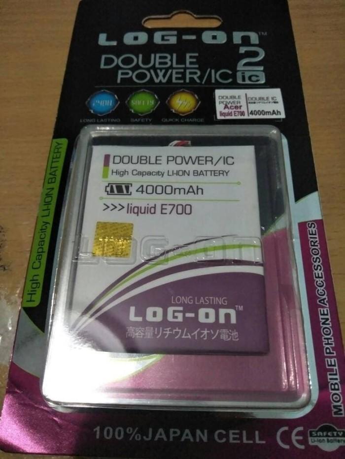 baterai / battery log on acer liquid e700 / e 700 double power ic