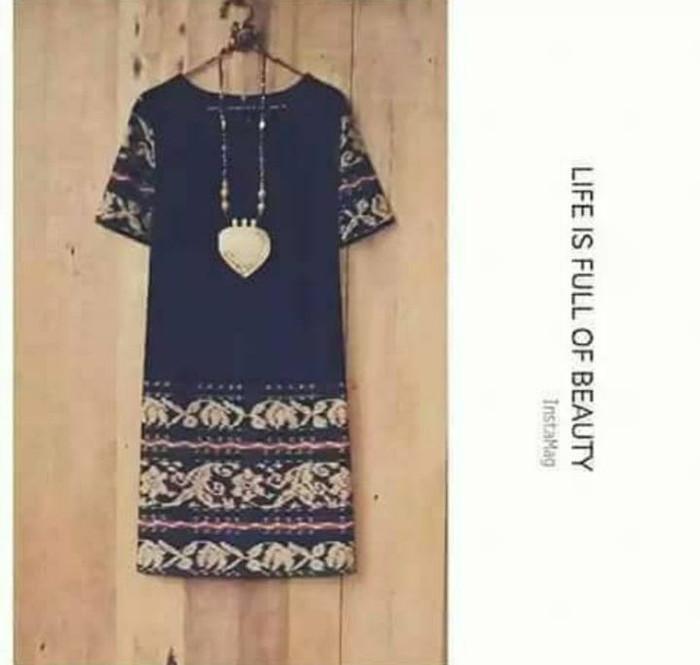 harga Midi dress ethnic kain tenun jepara blanket gringsing batik modern Tokopedia.com