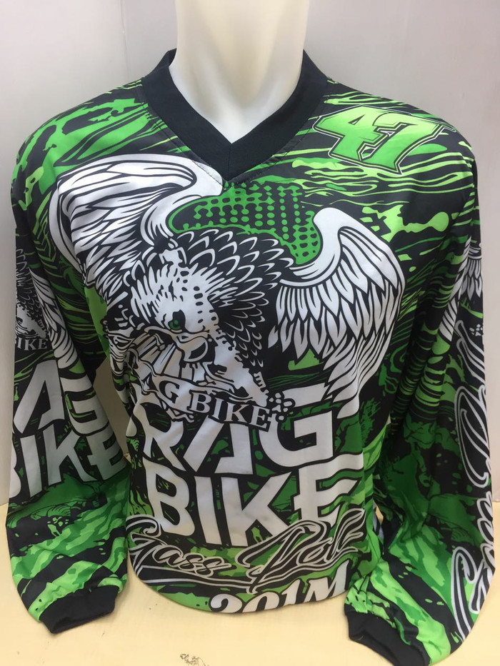Baju/ jersey balap motor cross drag bike dwonhill jumbo xl