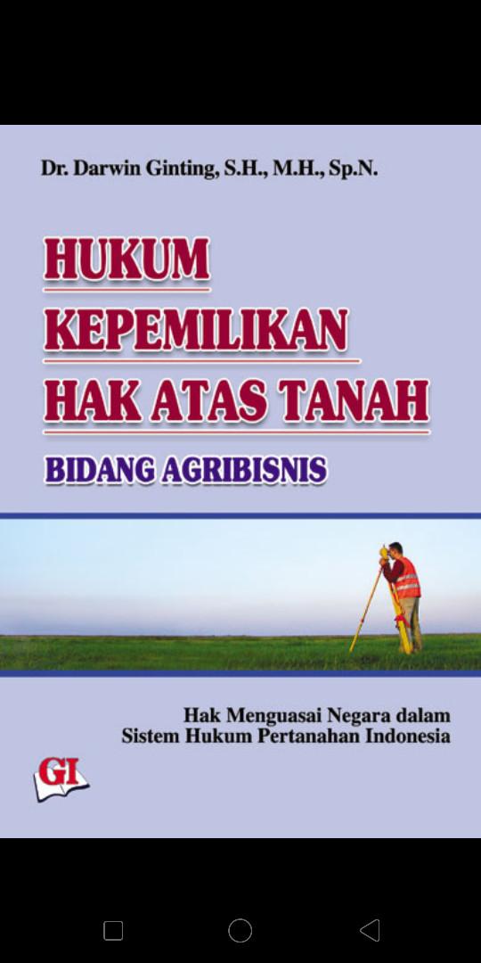 Foto Produk Hukum kepemilikan hak atas tanah dari Tokobuku Rostangg