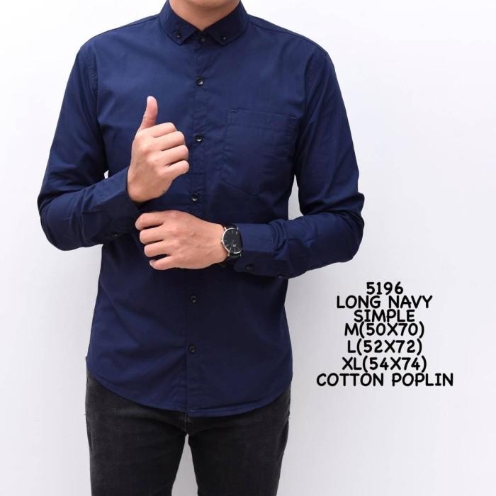 Foto Produk kemeja polos pria lengan panjang | baju basic warna cowok kerja dari Goodfella