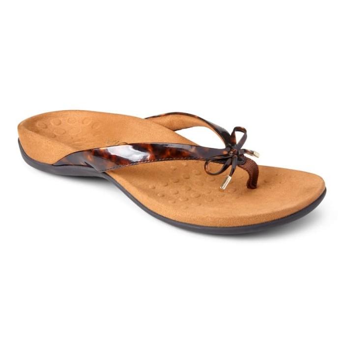 vionic bella tortois  sandal wanita - cokelat tua 38