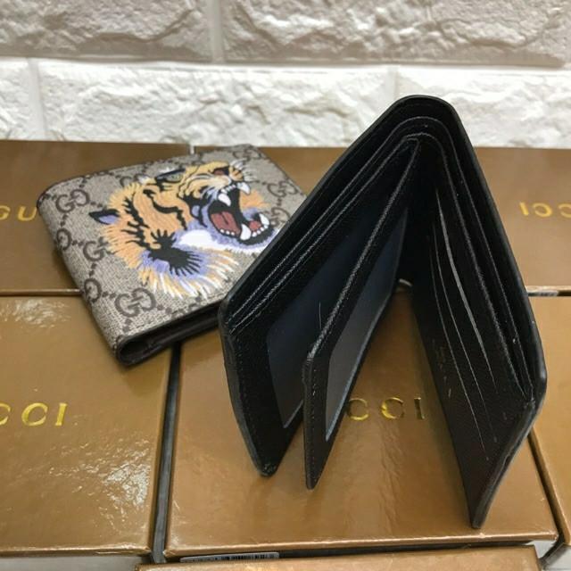Jual Dompet Pria Gucci Bengal Tiger Print GG Supreme Wallet Import ... 3c3644f5a2