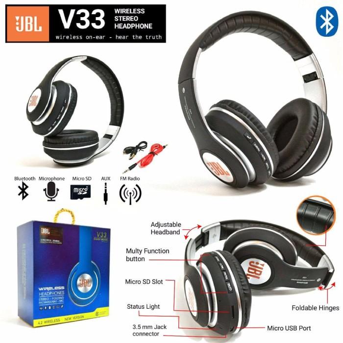 harga Handsfree / headphone / earphone / headset bluetooth bando jbl v33 Tokopedia.com