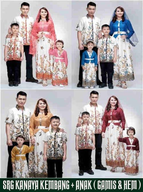 Jual batik keluarga muslim kanaya kembang batik couple 2 anak baju ... 96ced9cd66