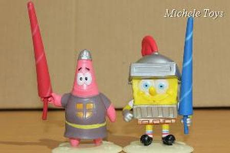 Jual Figure 6 Pcs Spongebob Squarepants Versi 1 Hiasan Kue Ulang