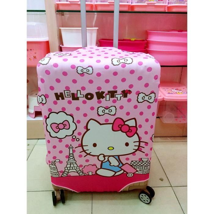 harga Sarung trolley koper 1222 cover pelindung m hello kitty pink polkadot Tokopedia.com