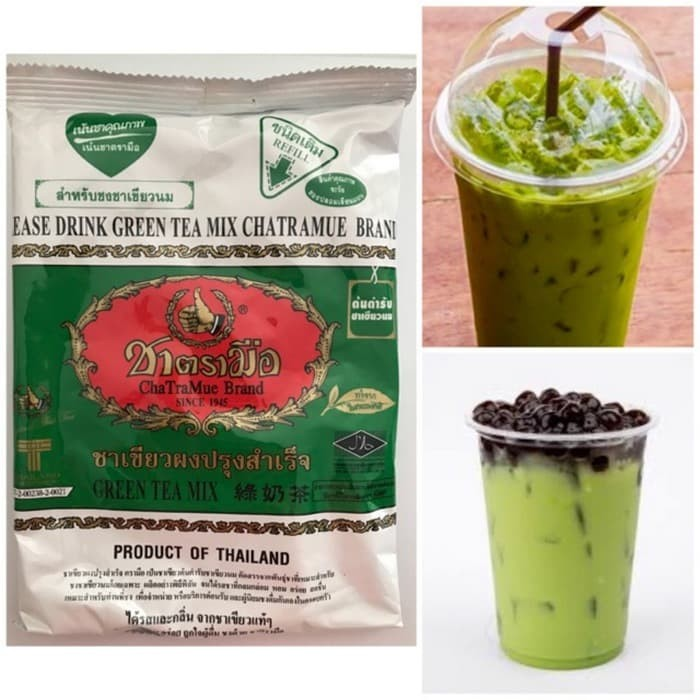 Thai Green Tea Number One Brand 200gr Asli Import Thailand Teh Milk