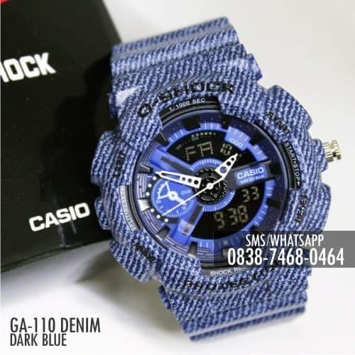4e6cc18f1a241 Jual Jam Casio G-Shock   Baby-G GA-110 Denim Dark Blue Single Couple ...