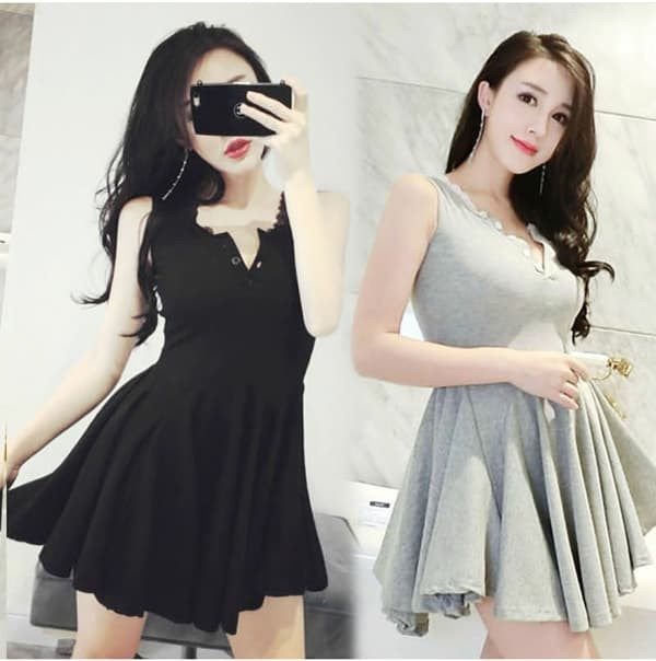 Jual Jes Ps1077 Mini Dress Katun Sexy Import Korea Baju Gaun Seksi Wanita Kota Batam Jessica Collections Tokopedia