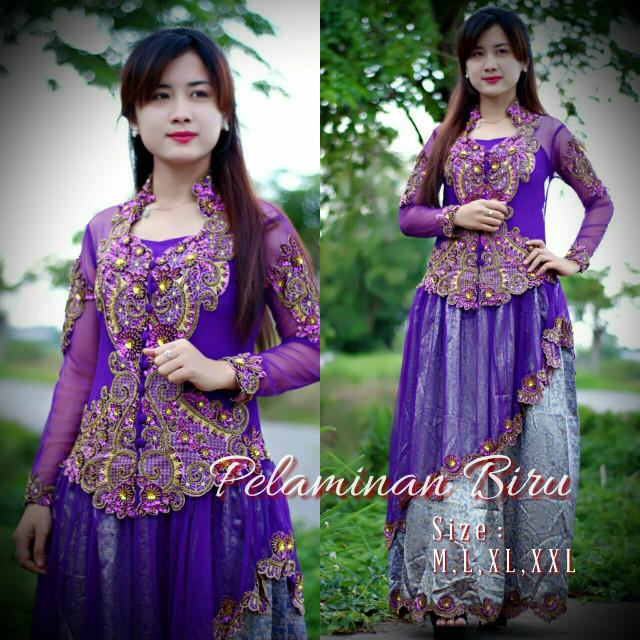 harga [rvy1173 purple ungu] gaun kebaya barbie songket Tokopedia.com