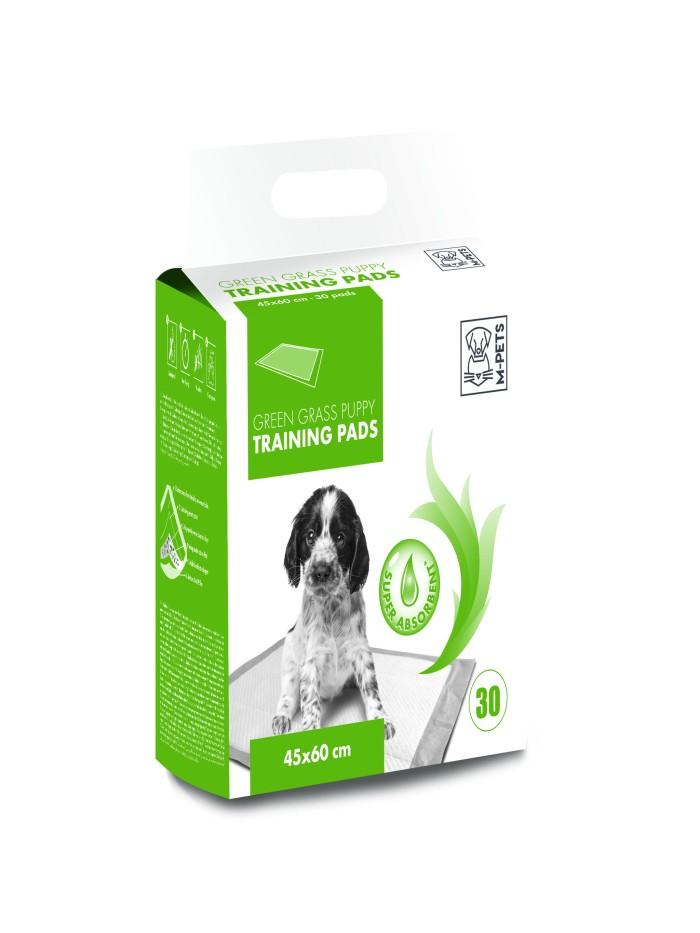 harga M-pets green grass puppy training pads 30 pcs 45x60 cm - alas popok Tokopedia.com
