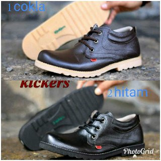 sepatu semi boot formal kickers sepatu pria boots kulit asli termurah -  Cokelat Tua 3d223a8208