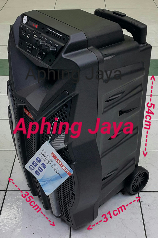 harga Speaker portable amplifier wireless meeting asatron ht-8879ukm 12inch Tokopedia.com