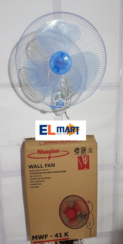 harga Maspion kipas angin dinding wall fan mwf-41k/kipas angin tembok 16 Tokopedia.com