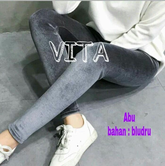 Jual Celana Legging Dewasa Wanita Bahan Bludru Jakarta Utara Vita Clein Tokopedia