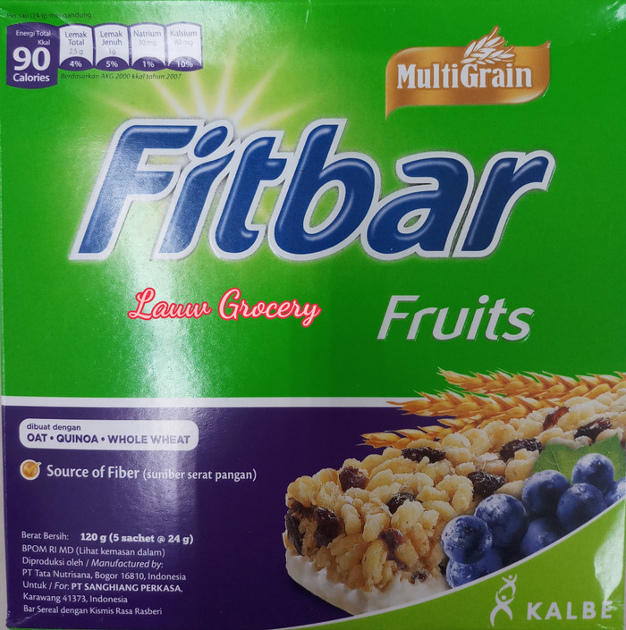 Fitbar fruits 120gr/fitbar buah isi 5pc 120gr/snack sehat fitbar…