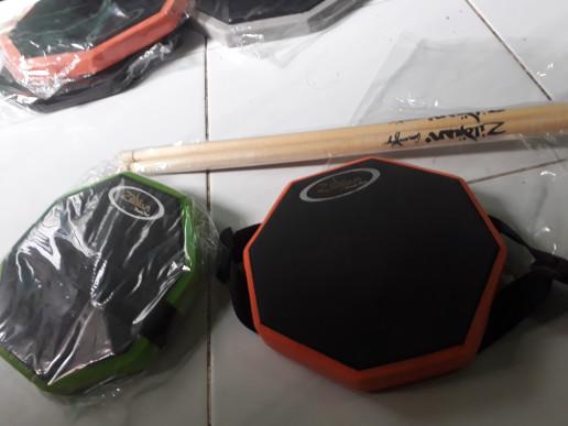 harga Drum pad customize size 6 inch' include stick & sabuk paha Tokopedia.com