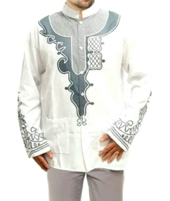 Outfit Jubah Jasko Hijab Muslim Baju Koko Black Panther Hitam Printing 2