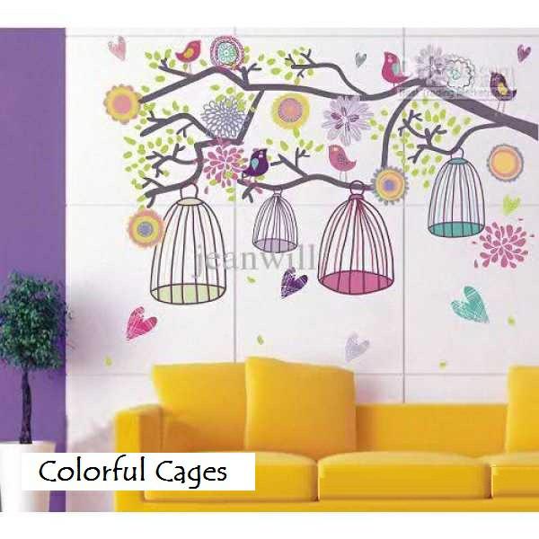 harga Wallsticker wallstiker purple violet colorful cage sangkar burung ungu Tokopedia.com