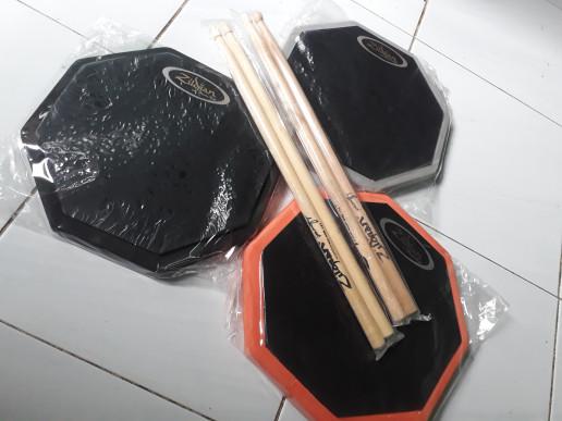 harga Harga miring drum pad customize size 10 inch' include stick Tokopedia.com