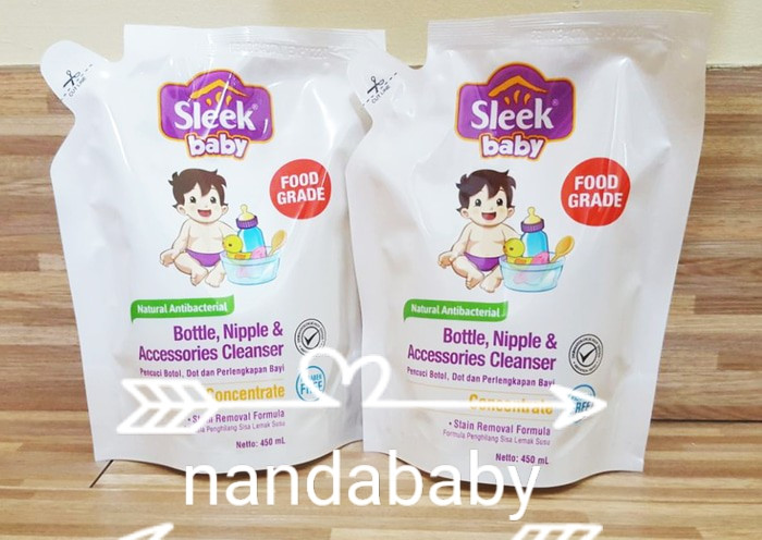 harga Sleek baby bottle nipple cleanser sabun cuci botol 450 ml Tokopedia.com