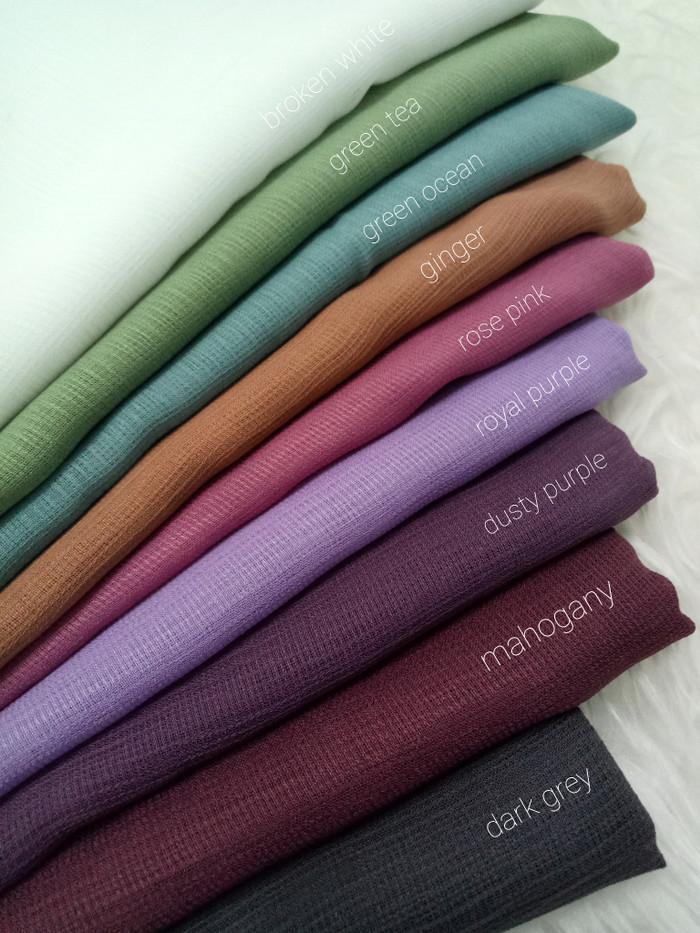 Jual Hijab Jilbab Polos Segiempat Corn Skin Viscose Premium 115 X